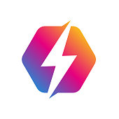 istock Flash Logo abstract design vector template. Lighting bolt icon. Logo Thunder electricity Power Fast Speed Logotype concept. Vector. EPS 10 1172929882