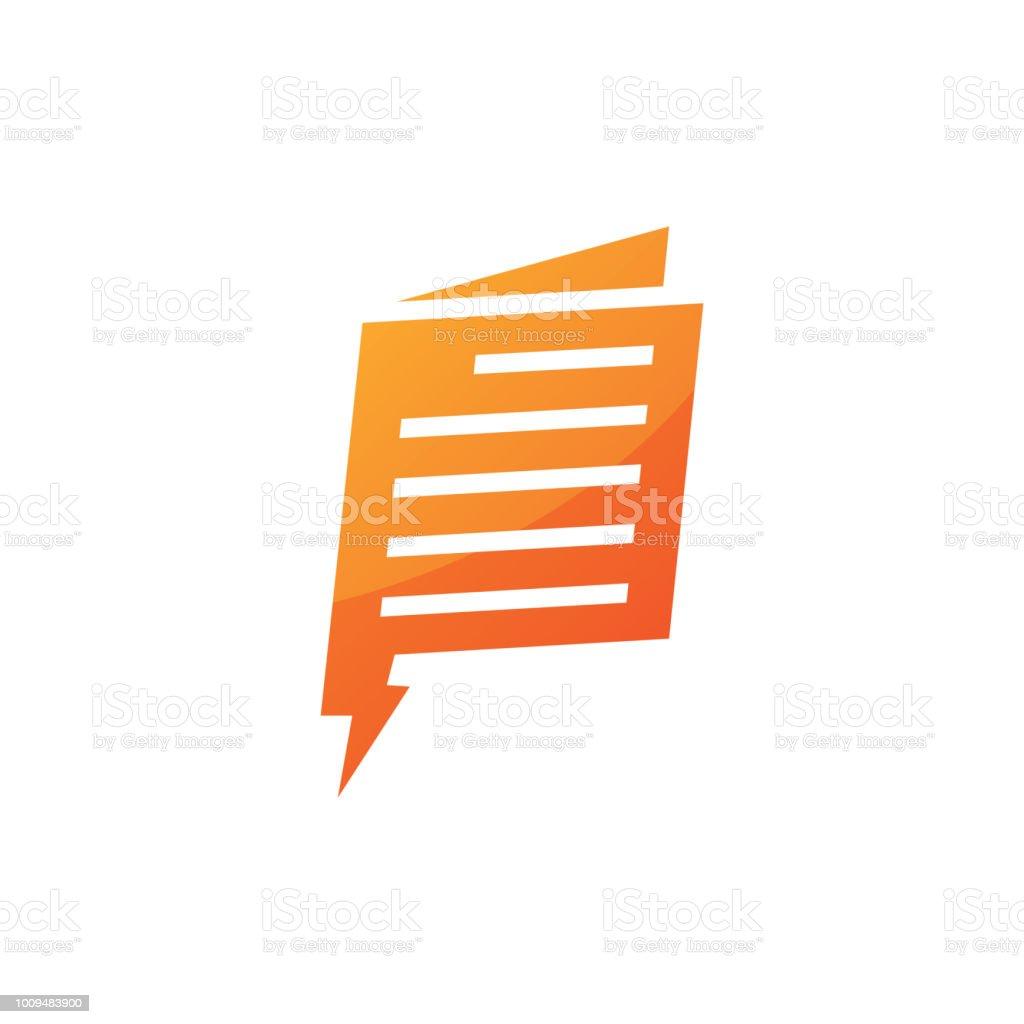 Flash News Logo Vector Design Template Stock Vector Art More