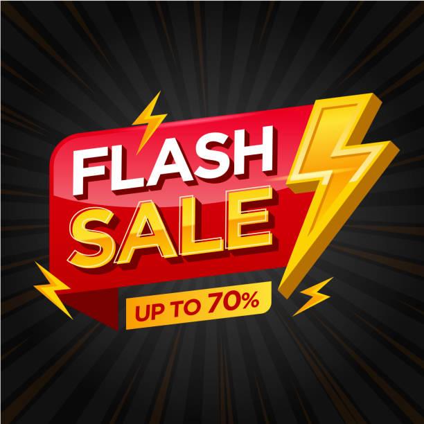 flash продажа баннер дизайн шаблон вектор иллюстрации - white background stock illustrations