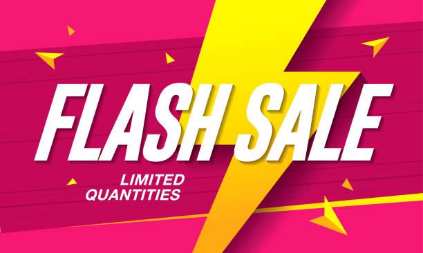 stockillustraties, clipart, cartoons en iconen met flash template ontwerp van de banner van de verkoop - uitverkoop