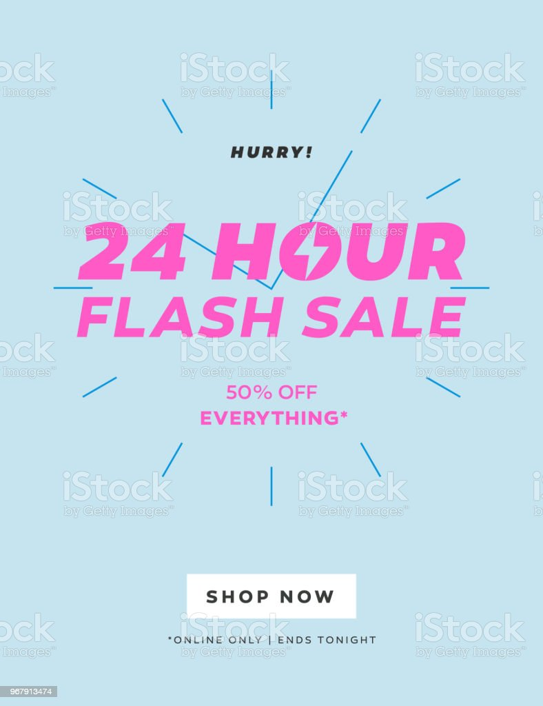 Hour Flash Sale Limited Offer Banner Special Discount Offer Email - Special offer email template