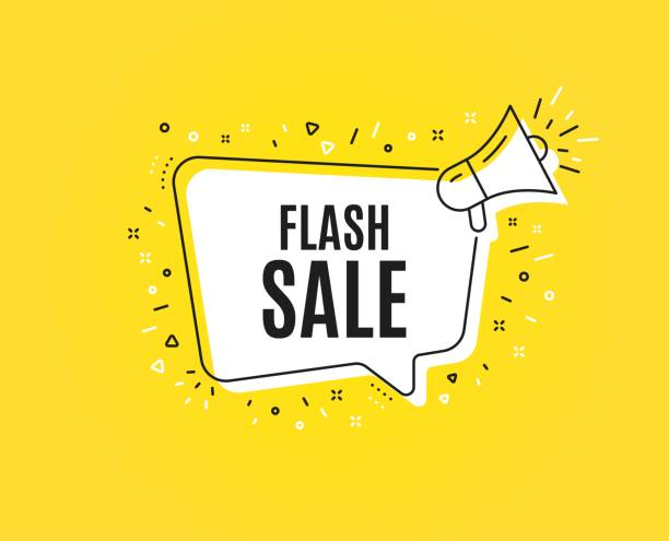 illustrazioni stock, clip art, cartoni animati e icone di tendenza di flash sale. special offer price sign. vector - sales