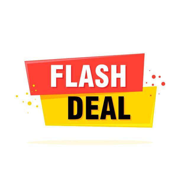 Flash Sale Tag, Banner-Design-Vorlage, App-Symbol, Vektorillustration – Vektorgrafik