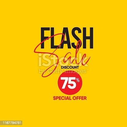 Flash sale vector template design.
