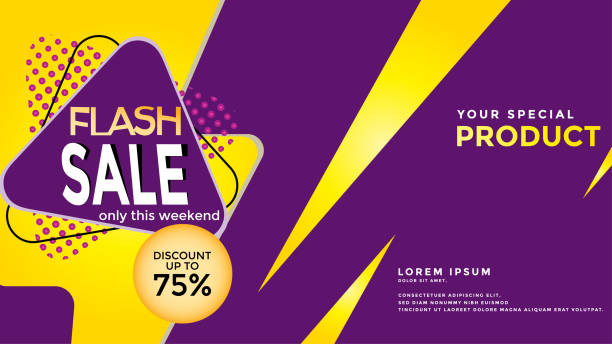 Flash sales discounts in text for banners, leaflets, web templates, weekend promotions Flash sales discounts in text for banners, leaflets, web templates, weekend promotions salé morocco stock illustrations