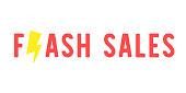 Flash sales limited time special offer lowest price with thunder , promotion sale , discount , clearance , vector illustration