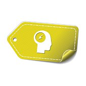 Flash Yellow Vector Icon Design