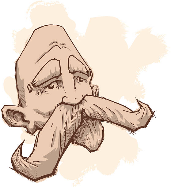 flash your mustache - old man funny pictures stock illustrations, clip art, cartoons, & icons