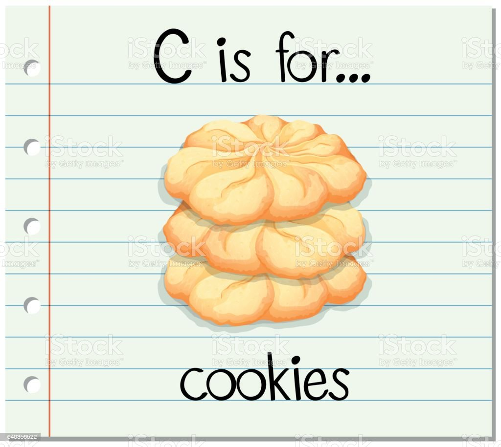 Flashcard Alphabet C Is For Cookies Stock Illustration
