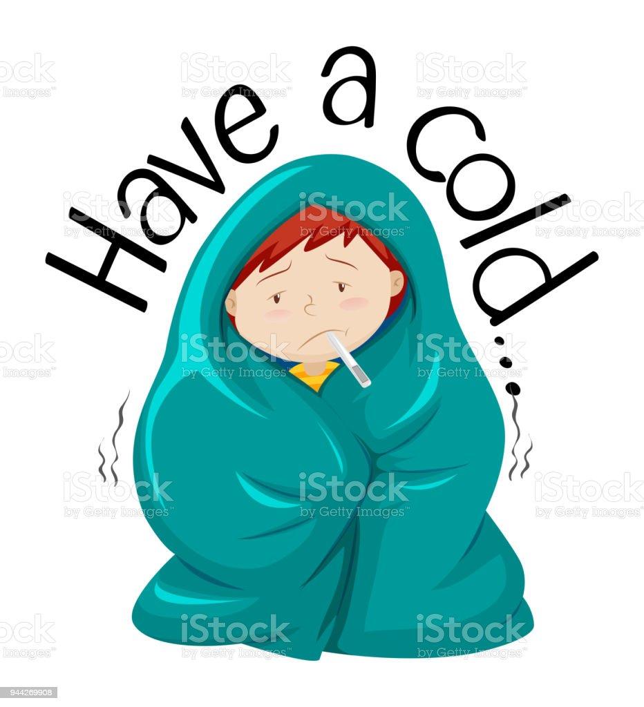 Ilustración de Diseño De Tarjetas Para Tener Un Resfriado y más ...