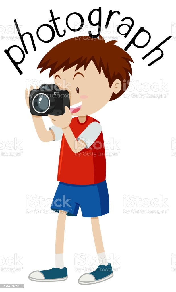 Ilustración de Flashcard Para Fotografía De Palabra Con Imagen De ...