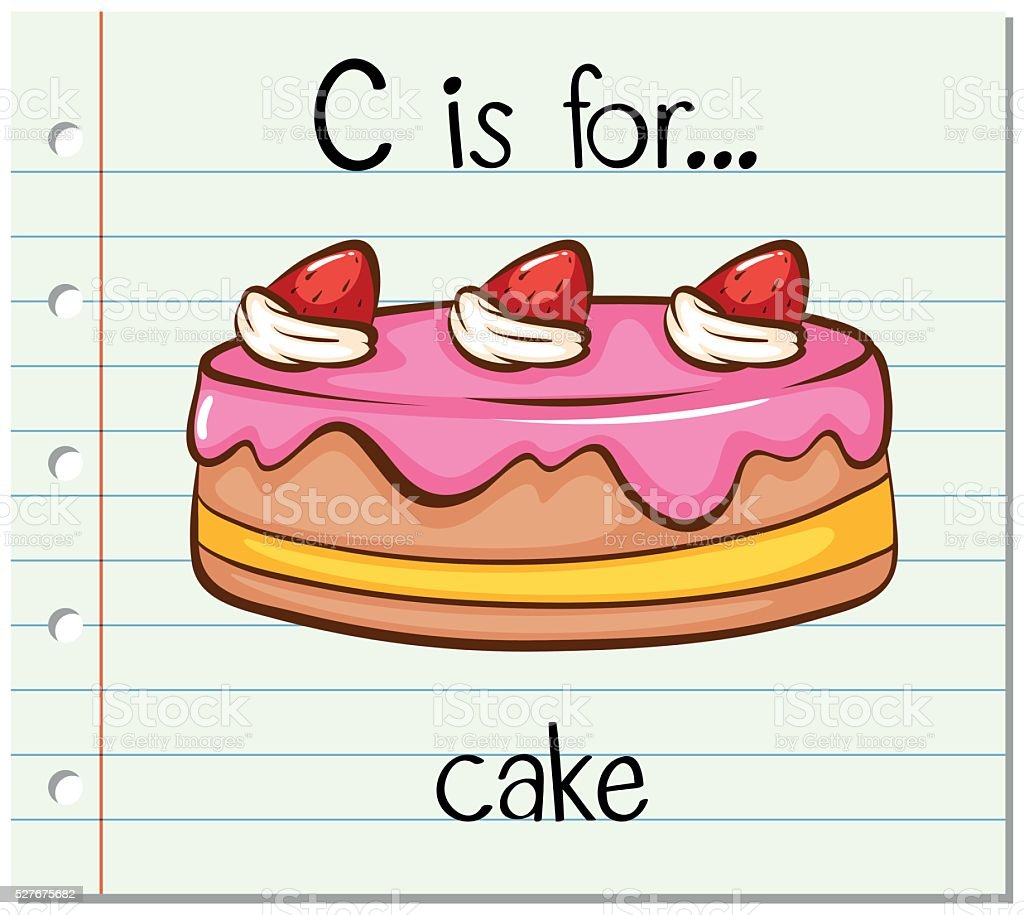 Flashcard Letter C Is For Cake Stock Vector Art & More Images of ...