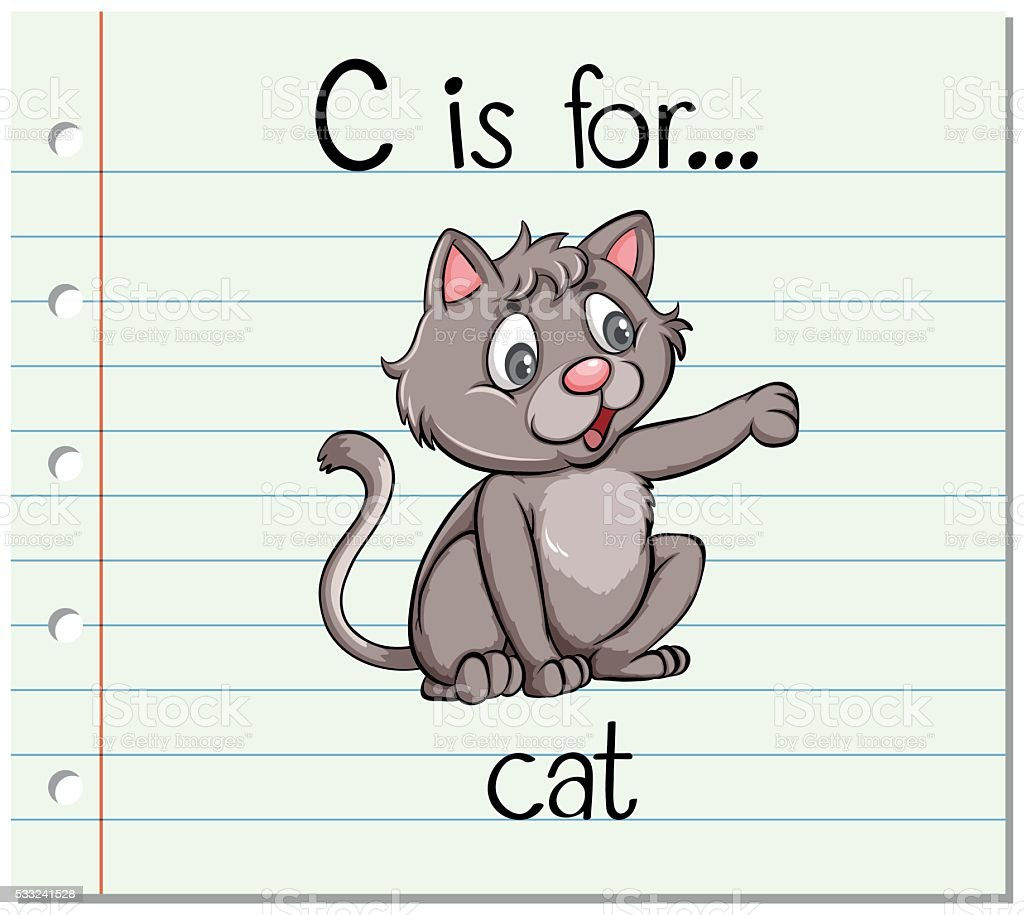 Flashcard Letter C Is For Cat Stock Vector Art  U0026 More