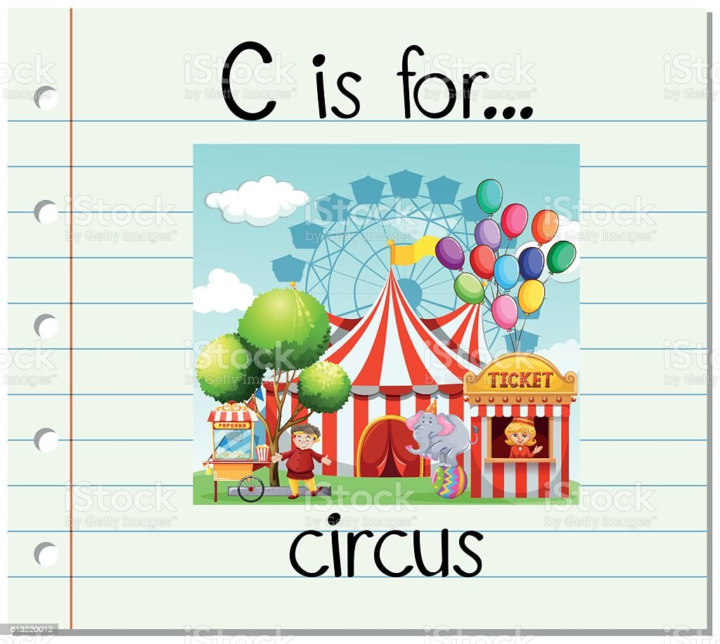 Flashcard Letter C Is For Circus Stock Illustration