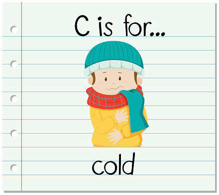 Flashcard letter C is for cold