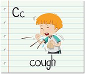 Flashcard letter C is for cough