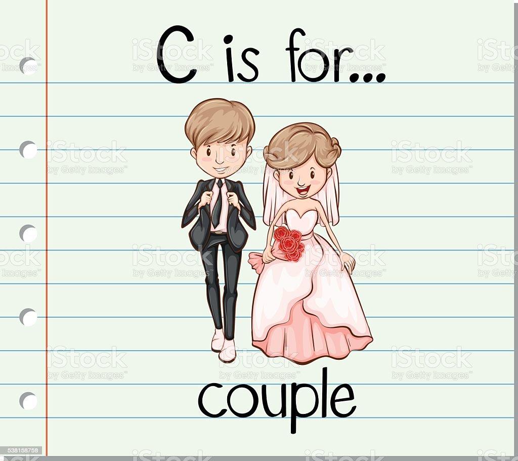 フラッシュカードの文字 c はカップル用 のイラスト素材 538158758 | istock