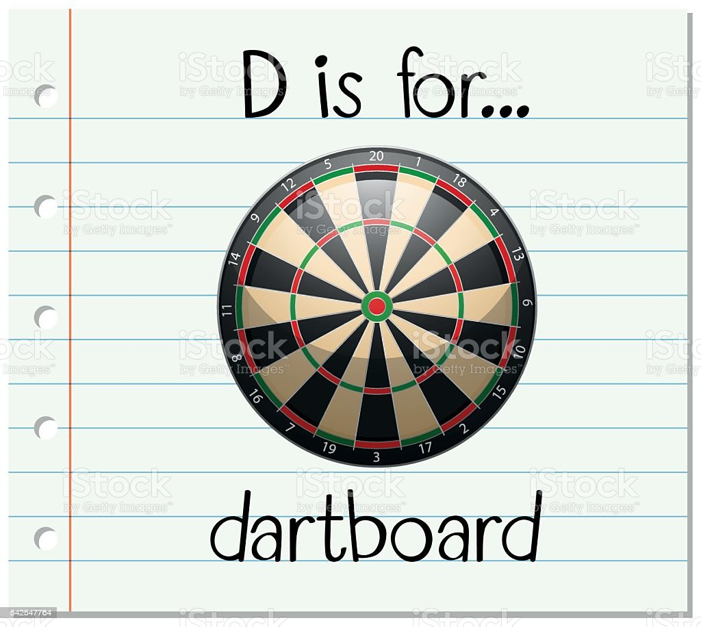 Flashcard Letter D Is For Dartboard Stock Vector Art  More Images
