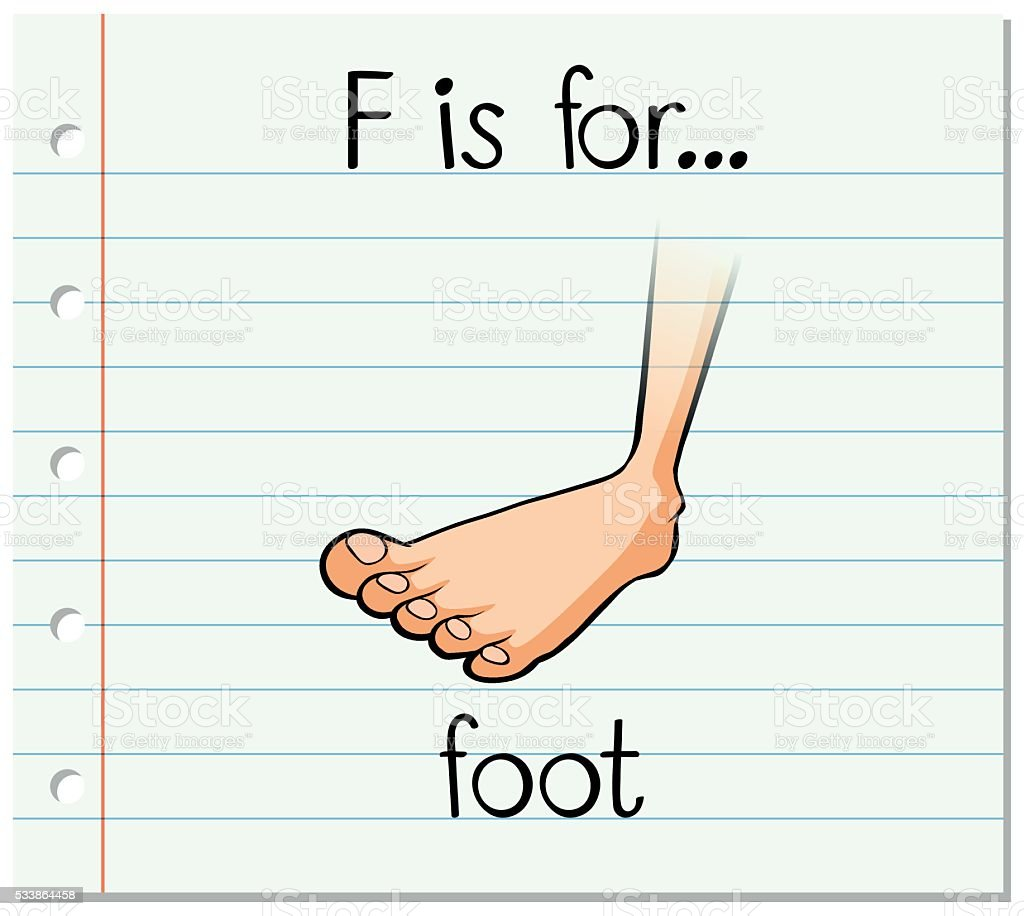 Flashcard letter f is for foot stock vector art more images of flashcard letter f is for foot royalty free flashcard letter f is for foot stock biocorpaavc Gallery
