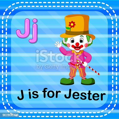 istock Flashcard letter J is for jester 902800206