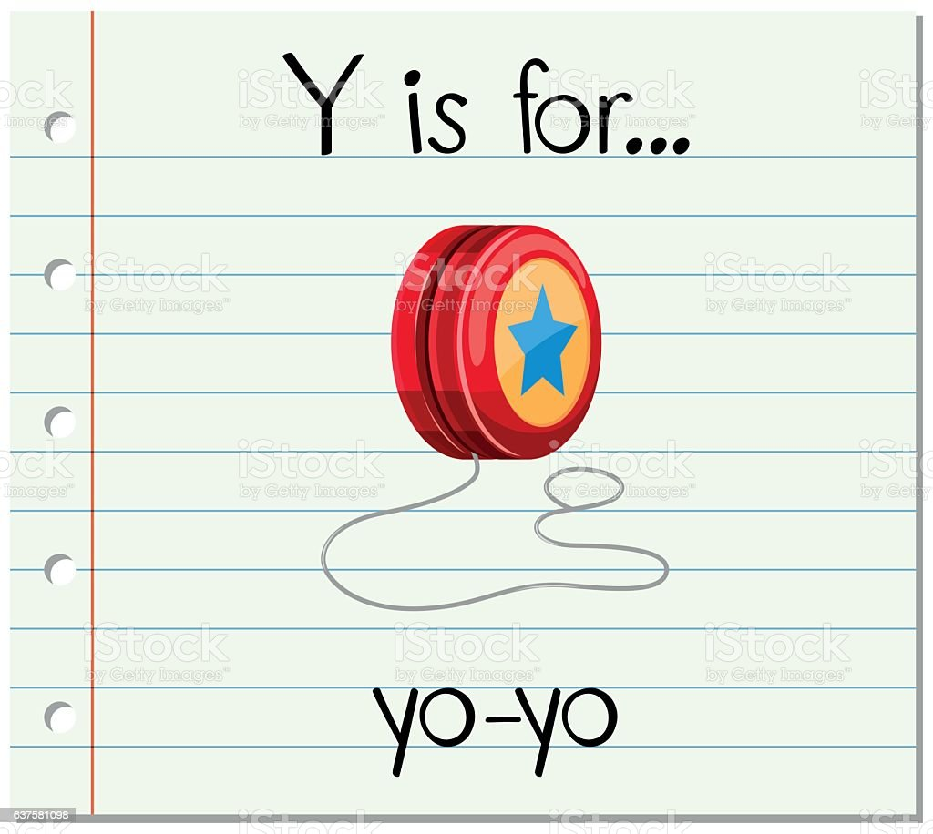 Flashcard letter Y is for yo-yo