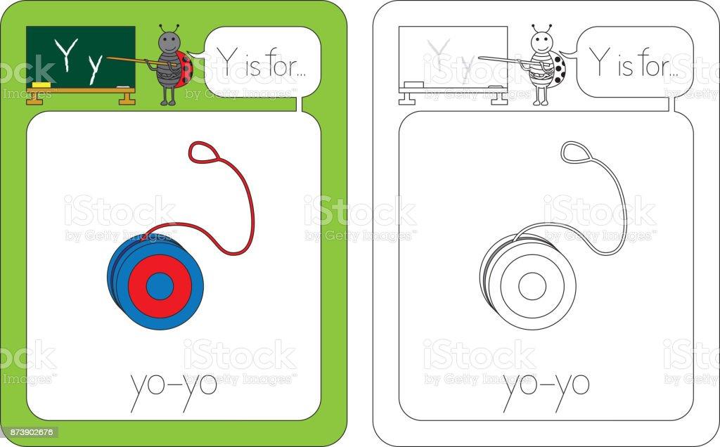 Flashcard letter Y