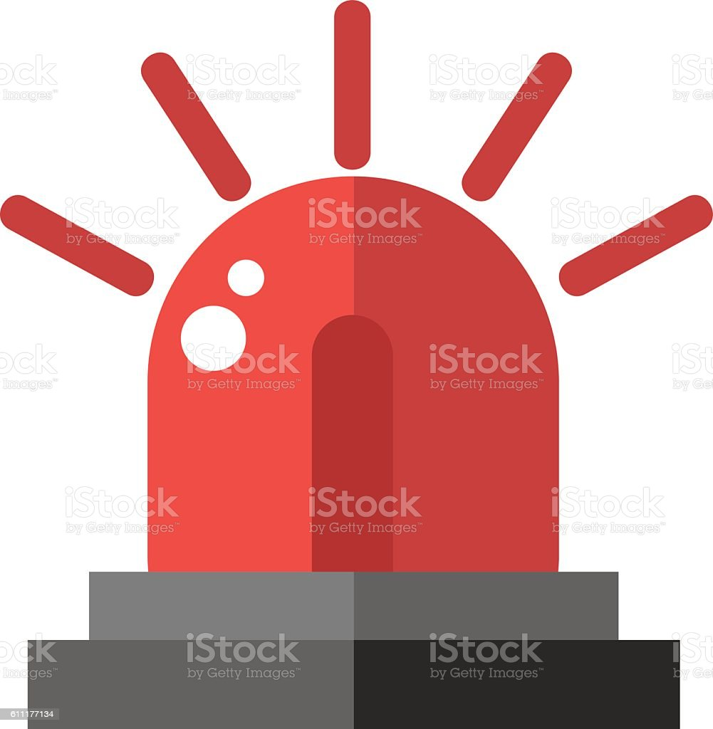Flasher alarm vector illustration. vector art illustration