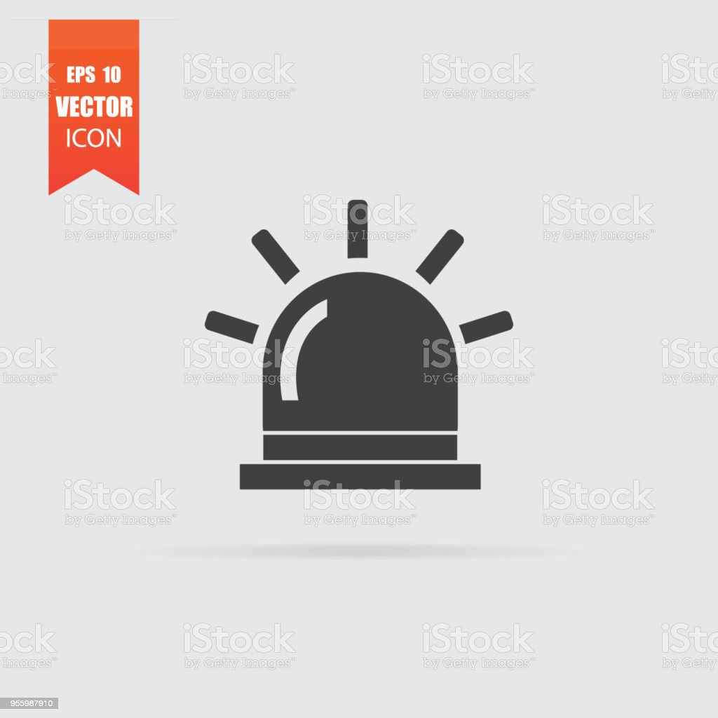 Flasher icon in flat style isolated on grey background. vector art illustration