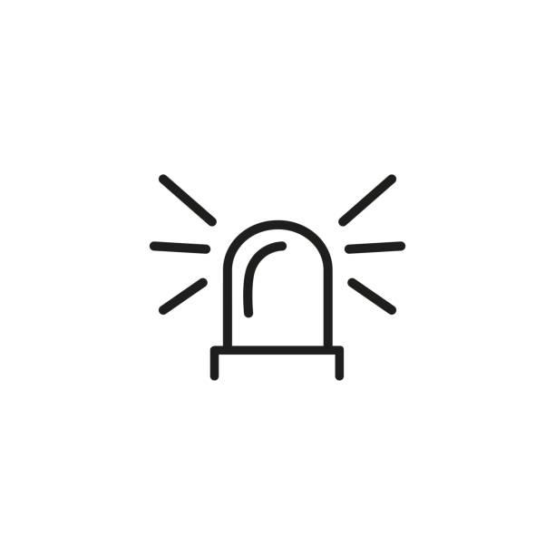 Flasher light sign line icon vector art illustration