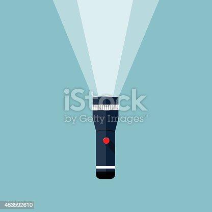istock Flashlight illustration. 483592610