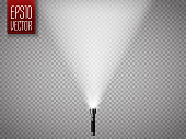 Flashlight isolated on a transparent background. Vector