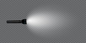 istock flashlight on a transparent background. Shine.lighting the space.metal. 1342597387