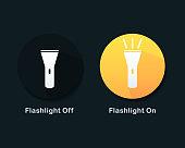 istock Flashlight On and Off icon. 1345300850