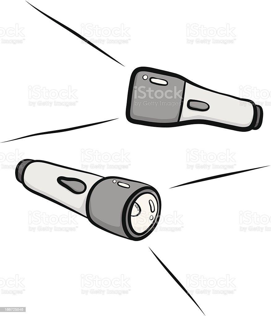 flashlight royalty-free stock vector art