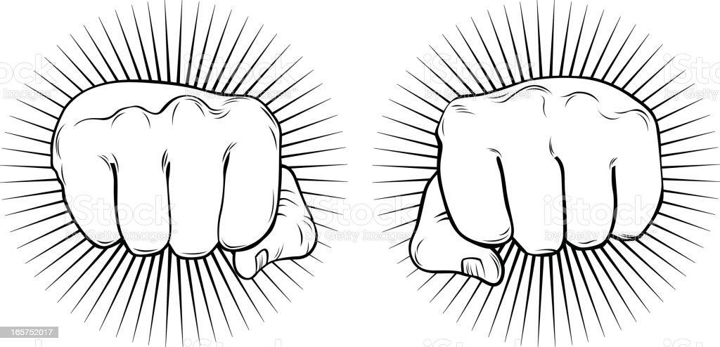 Flashy fists royalty-free stock vector art