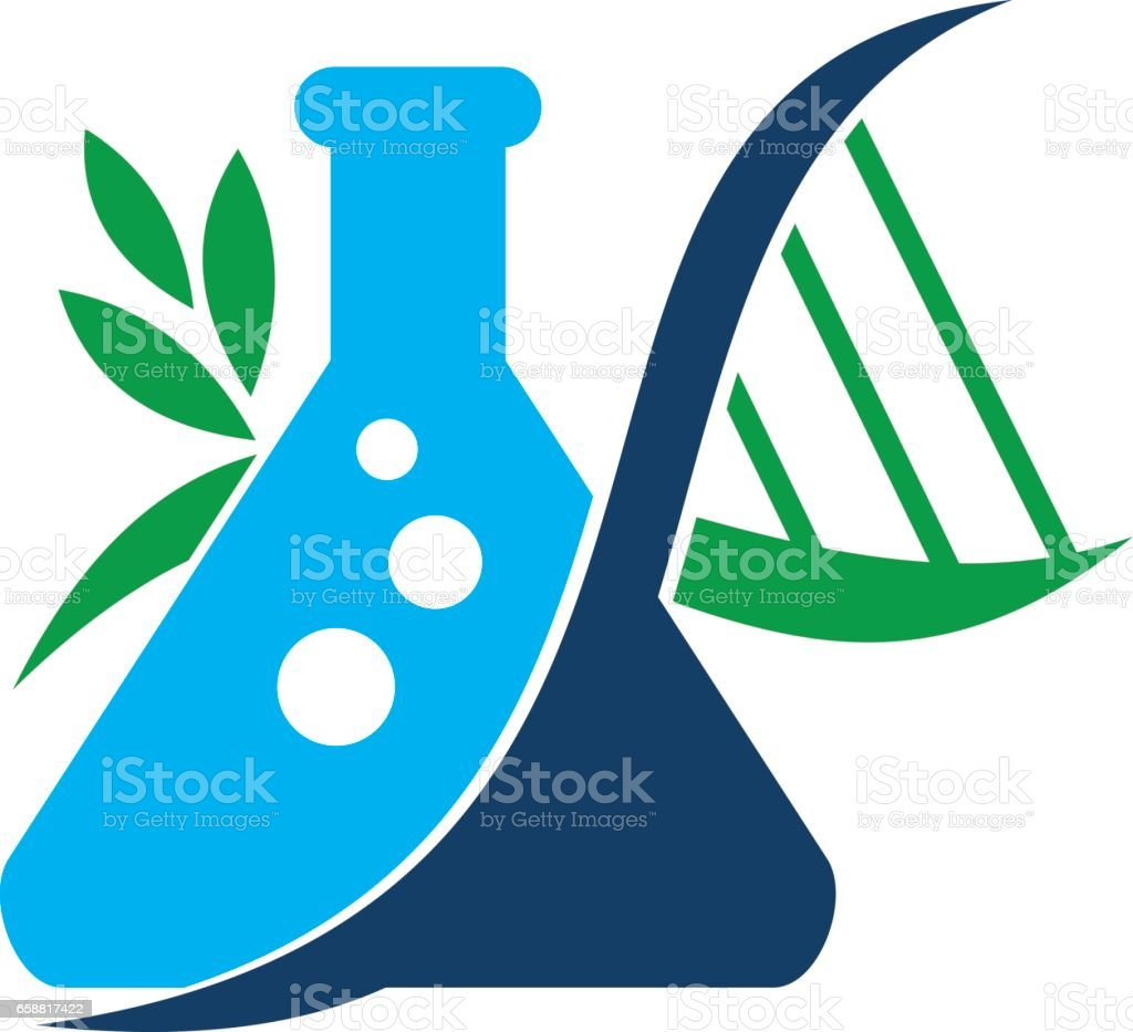 Flask DNA vector art illustration