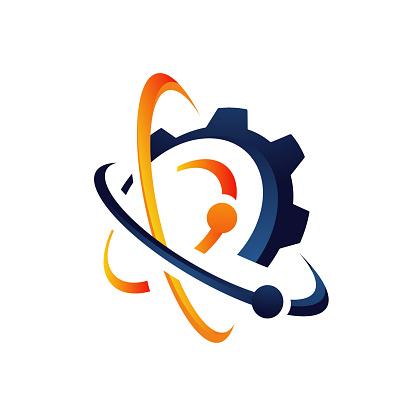 flask sign Lab logo template vector design negative space bio technology symbol