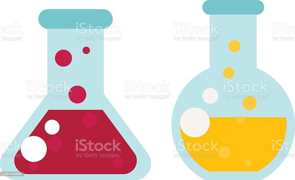 flask with liquid vector illustration vector art illustration