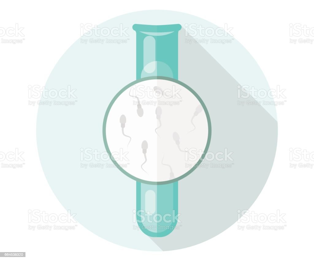 Flask with sperm. Flat illustration, eco, artificial insemination, Children in vitro. royalty-free flask with sperm flat illustration eco artificial insemination children in vitro stock vector art & more images of artificial insemination