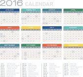 Flat 2016 Calendar