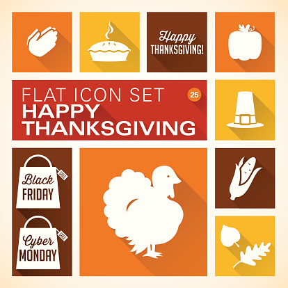 Flat 25 - Thanksgiving Icons