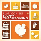 A vector illustrations of Thanksgiving icons. There are separate layers for easier editing.