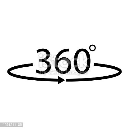 istock Flat 360 rotation vector icon. 360 degree arrow .vector 10 eps 1251211105