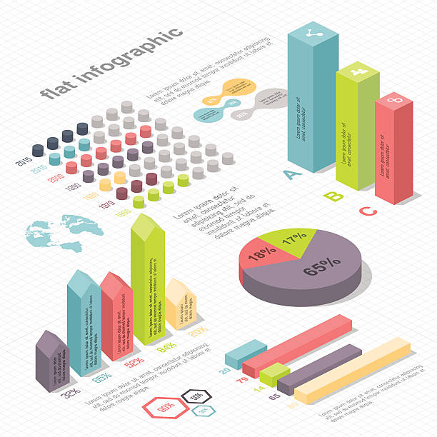 flat 3d isometric infographic for your business presentations. - 時代 幅插畫檔、美工圖案、卡通及圖標