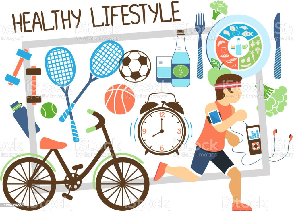 Flat Active Lifestyle Composition royalty-free flat active lifestyle composition stock vector art & more images of adult