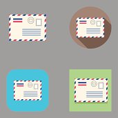 Flat Airmail icons | Kalaful series
