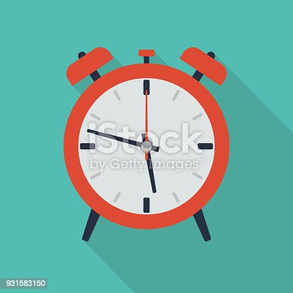 An illustration of flat alarm icon. Easy to edit and use.