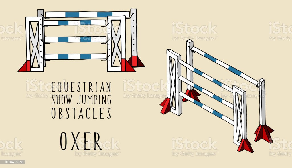 Flat And Isometry Equestrian Show Jumping Obstacles Oxer Stock Illustration Download Image Now Istock