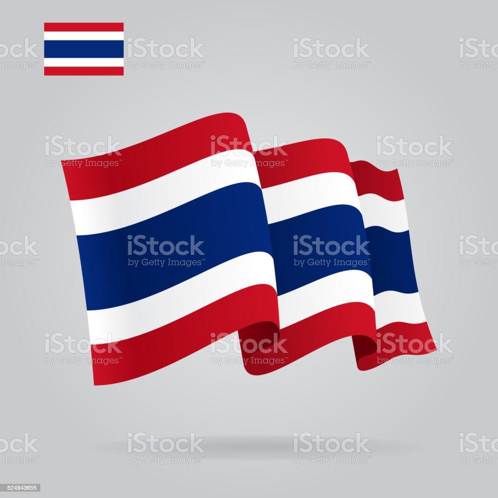 フラットタイ旗を振るます。ベクター ベクターアートイラスト