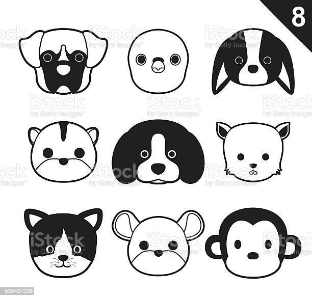 Flat animal faces monochrome icon cartoon vector set 8 vector id535407238?b=1&k=6&m=535407238&s=612x612&h=p1bhnay 6vwhtem0fxycm93pc0qegnpxjjteayma8m0=